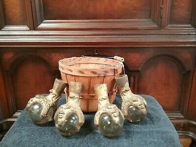 Set of 4 North Wind Glass Ball and Cast Iron Claw Table Feet