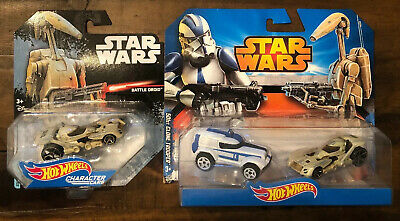 Hot Wheels STAR WARS BATTLE DROID & BATTLE DROID vs 501st CLONE TROOPER 2 pack