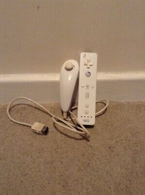 Nintendo Wii Official Remote With Nunchuck