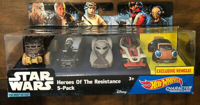 Hot Wheels - STAR WARS DIE-CAST - Heroes Of The Resistance 5-pack Character Cars