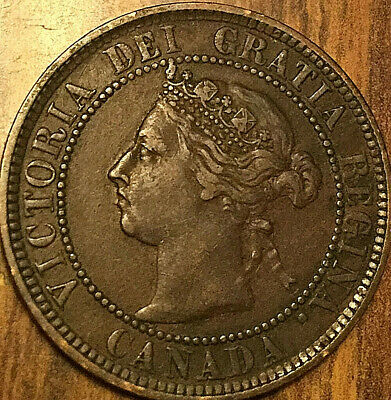 1884 CANADA LARGE CENT COIN LARGE 1 CENT PENNY - Obverse #2