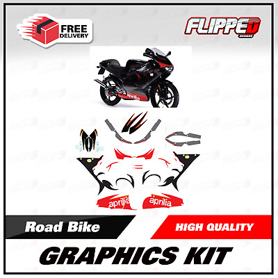 Aprilia RS125 2005 Replacement Graphics Kit Stickers Decals RS Track Bike