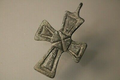 Ancient Byzantine Bronze Cross  6th -9th Century AD