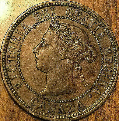 1888 CANADA LARGE CENT COIN LARGE 1 CENT PENNY - Excellent example!