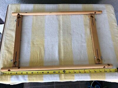 "SCROLL FRAM 10""X18"" (adjustable) Hardwood SplitRail XStitch Needlepoint OOB"