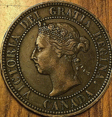 1896 Canada Large Cent Coin Large 1 Cent Penny