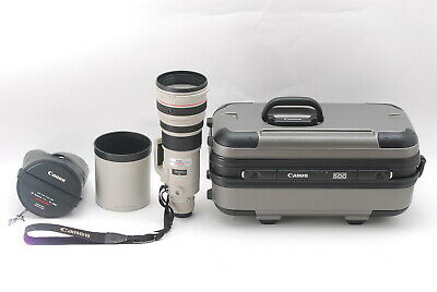 【MINT】 Canon EF 500mm F/4 L IS USM Lens w/ Case Hood Strap from JAPAN 435