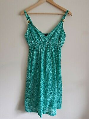 H&M Mama maternity Size M strappy summer dress - Green