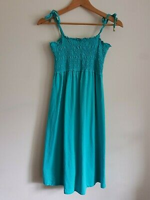 H&M Mama maternity Size M strappy stretchy summer dress - Green