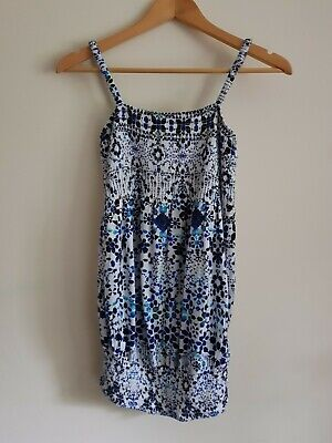 H&M Mama maternity Size M strappy stretchy summer top - Blue