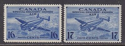 Canada Scott CE1-CE2 XF MNH 1942 16¢ & 17¢ Air Post Special Delivery Stamps