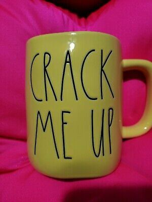 RAE DUNN | Spring Yellow CRACK ME UP Easter Coffee/Tea Mug - *HTF* New Release!