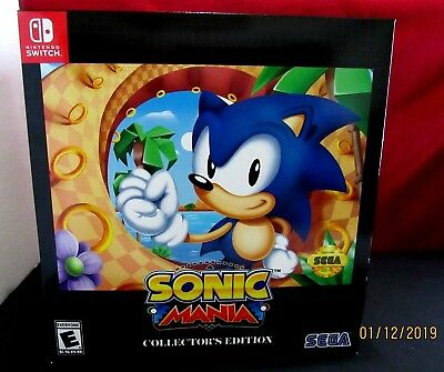 Sonic Mania: Collector's Edition (Nintendo Switch, 2017) NEW & FACTORY SEALED