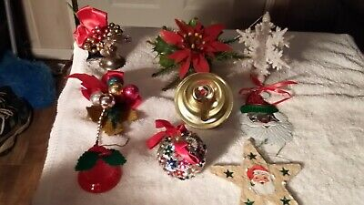 1950s-60s plus Vintage Christmas Ornaments Christmas Corsages Door Hanger Bell