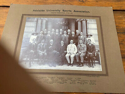 Old Group Portrait Photo Adelaide University Sports Assoc 1921 South Australia