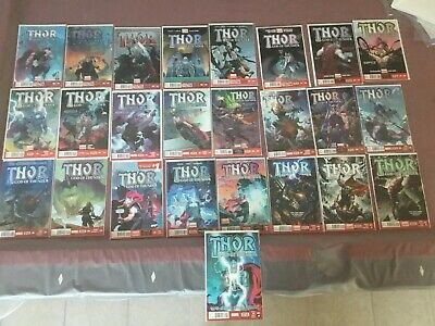 Thor God of Thunder #1-25 Run Complete Issues #25 All 1st Print 1st App Of Knull