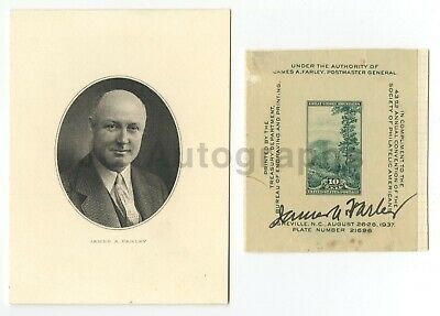 James Farley - Postmaster General, FDR - Authentic Autograph