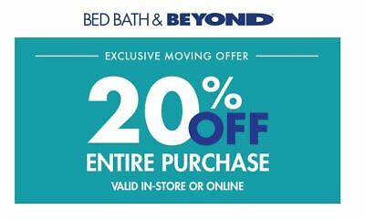 Bed Bath and Beyond 20% OFF 1Coupon Discount Purchase Expires  3/15/2020