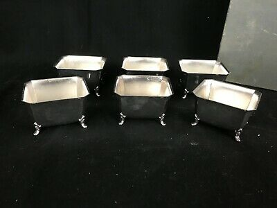 Set of 6 Vintage International Silver  Silver Plate Footed Dessert Cups/Boats