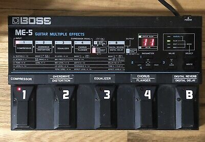 BOSS ME-5 Guitar Multiple Effects Pedal ME5