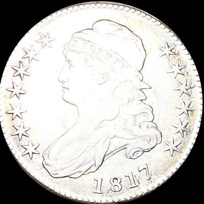 1817 Capped Bust Half Dollar NEARLY UNCIRCULATED Philadelphia 50c Silver Coin NR