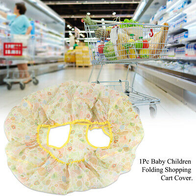 Folding Baby Shopping Supermarket Trolley Cart Cover Seat Child Protector Mat