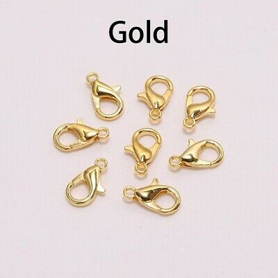 50pcs Gold Lobster Clasp Hooks For Necklace Bracelet Chain DIY Jewelry Making