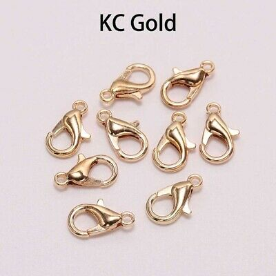 50pcs lobster Clasp Hooks For Necklace Bracelet Chain DIY Jewelry Finding