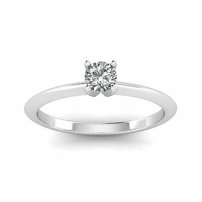 1/3ctw Diamond Solitaire Ring in 14k White Gold
