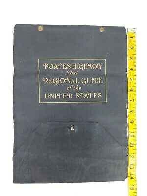 Vintage Maps 1924 Poates United States Automobile Carry Lots of Maps