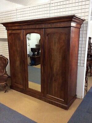 Large Victorian Three Door Fitted Wardrobe