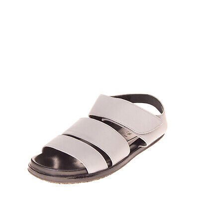RRP €290 MARNI Leather Slingback Sandals Size 39 UK 6 US 9 Footbed Made in Italy