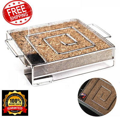 BBQ Cold Smoker Wood Chips Generator Grill Cooking Tool Smoking Meat Accessories