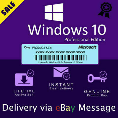 Windows 10 Pro Licence Key - Instant - 24/7 Support