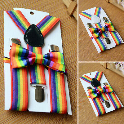 Girls Kids suspender Unisex Boys Stripes Belt Kids suspender Kids Clip On Braces