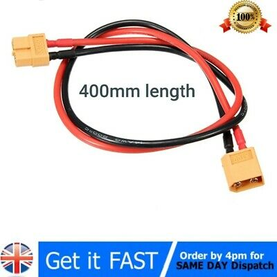 40cm XT60 / XT-60 Male to Female Plug Extension Cable Lead Silicone Wire 14AWG
