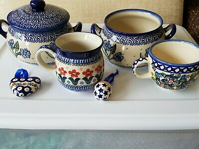 Unikat Polish Pottery 5pc Set