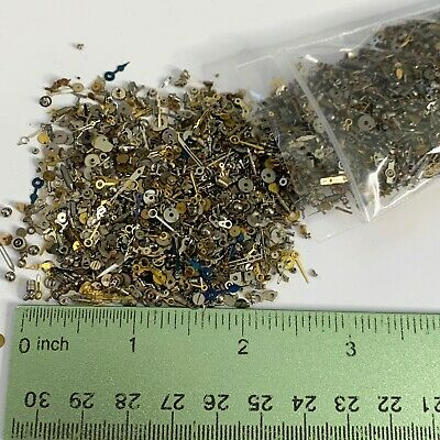 100 Grams Tiny Watch Part Steampunk Wheel Gear Nail Altered Art Watchmaker Small