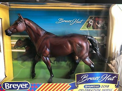 2018 BREYERFEST Breyer Thoroughbred CELEBRATION MODEL -  BRASS HAT – NIB MINT