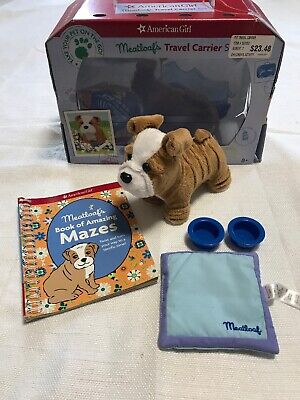 American Girl Meatloaf's Travel Carrier Set Bulldog Accessories-RETIRED