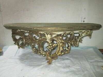 Fine Antique Italian Carved Gilt Wood Wall Shelf ..Collectible..