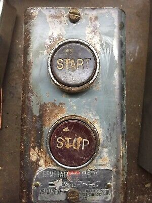 General Electric Start Stop Switch-Vintage/Steampunk/Retro/Gentrification