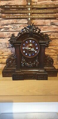 Antique Carved Black Forest Clock 8 day