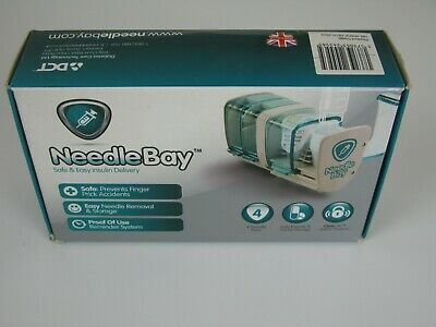 NeedleBay Storage Box Insulin 4 Needle Bays Diabetes NEW Insulin