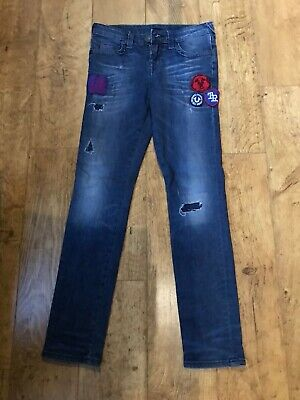 Boys true religion stretch blue skinny jeans age 10yrs