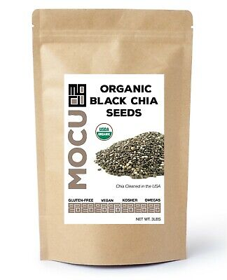 12 POUNDS CERTIFIED ORGANIC Black Chia Seed Get Raw Seeds Gluten-Free Non-Gmo