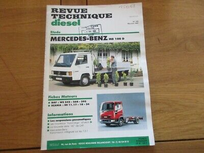 Revue Technique Diesel N° 169 Mercedes Benz Mb100D - 169