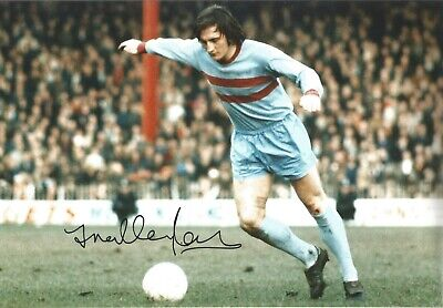 Frank Lampard senior West Ham Authentic Hand Signed colour football photo SS676b