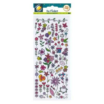Planet Craft Flowers Stickers Self Adhesive Art Crafts