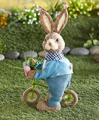 On-the-Go Easter Bunny Figure Spring Home Decor - Bicycle